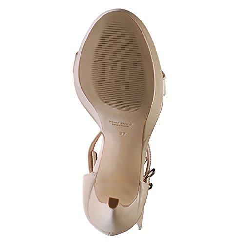 Evita Shoes mujer sandalia de tacón alto beige - beige