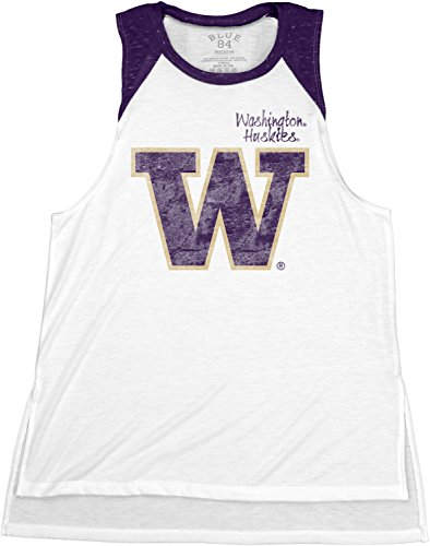 NCAA Washington Huskies Confetti Muscle Tank Top, Purple, Large