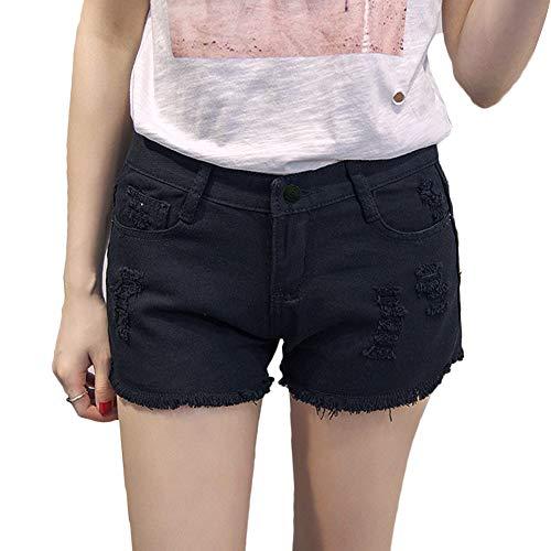 【TaoTech】 デニム ショート パンツ 切りっぱなし レディース ショーパン 美脚効果