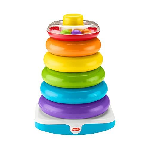 Fisher-Price- Pirámide balanceante gigante, juguete para niños +6 meses, Color surtido (Mattel GJW15)