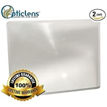 "Opticlens Brand (2) Pack Full Page 3x Magnifier / Plastic Magnifying Sheet Fresnel Lens, 7"" X 10.25"""