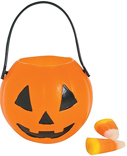 Pumpkin Buckets Diam Handle Plastic
