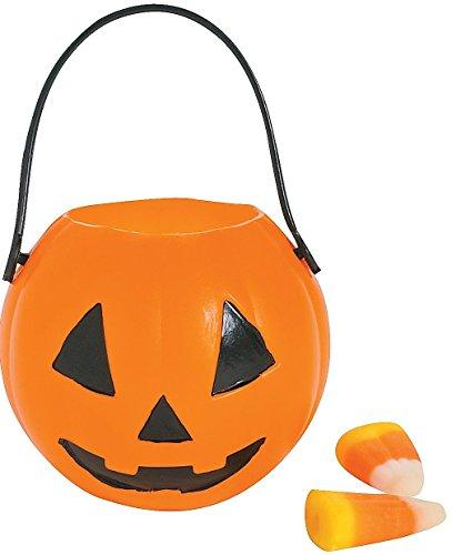 Pumpkin Buckets Diam Handle Plastic