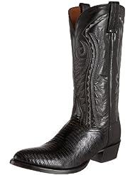 Dan Post Mens Raleigh Lizard Western Boot Medium Toe Black 10 D(M) US
