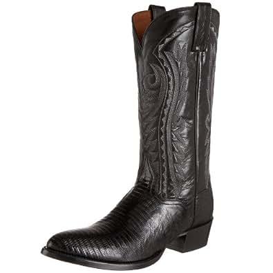 Dan Post Men's Teju Lizard Western Boot Pointed Toe Black 6.5 D(M) US