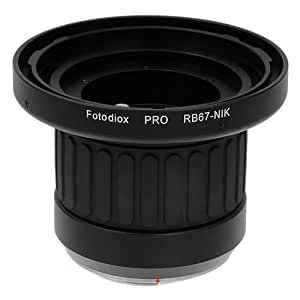 Fotodiox Pro Lens Mount Adapter with Focusing Barrel, Mamiya RB67 Lens to Nikon Camera such as D7200 & D5000