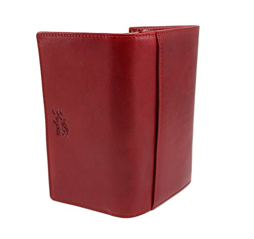 Clutch Zenyetti Wallet Handcrafted Womens Medium Red as Italian Fashioned Leather a Premium Ovx46O