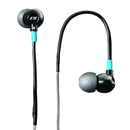 X-1 (Powered by H2O Audio) TR1-BK-X Trax Custom Fit In-Ear Sport Headphones (Black) DISCONTINUED BY MANUFACTURER