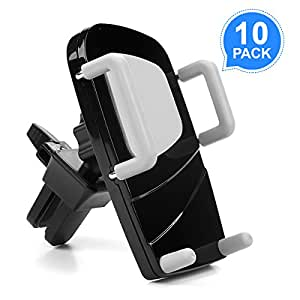 Car Mount Holder,M-Better Universal Air Vent Car Phone Mount Cradle with 360 Degree Rotation for iPhone X 8 7 6 SE 5C 5S Android Samsung Galaxy LG HTC Smartphone GPS (10 SET)
