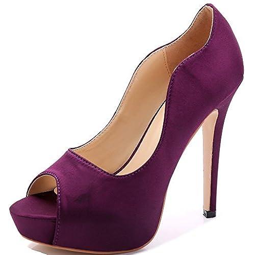 Purple Bridal Heels for Wedding: Amazon.com