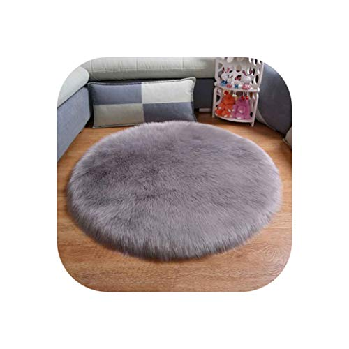 Heart to hear Carpet-White Soft Round Rug Chair Cover Warm Carpet for Living Room Kids Mat Seat Fur Area Rugs Home Decor,Gray,Diameter 30cm (For Jacksonville Sale Furniture Fl)