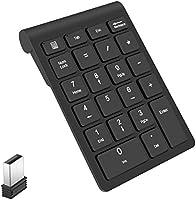 テンキーボード ワイヤレス テンキーパッドLevens 2.4GHz 超薄型 持ち運び便利 1000万回高耐久USBレシーバー付き (ブラック)