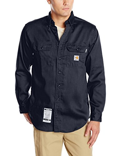 Carhartt Flame Resistant Twill Shirt - Carhartt Men's Flame Resistant Lightweight Twill Shirt,Dark Navy,X-Large