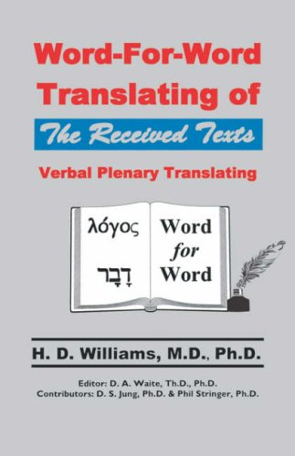 Word-for-Word Translating of the Received Texts, Verbal Plenary Translating pdf