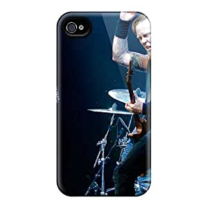 Durable Hard Cell-phone Case For Iphone 4/4s With Provide Private Custom High-definition Metallica Image TimeaJoyce