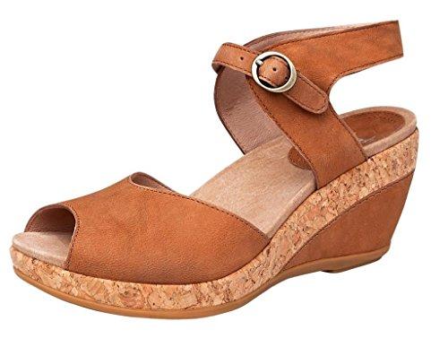 Dansko Womens Charlotte Wedge Sandals, Camel, 38 M (Charlotte Camel)