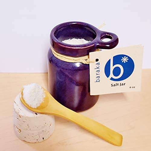 2f339c3f5c45 Baraka Ceramic Neti Salt and Herb Storage Jar - Handmade in USA (Purple)