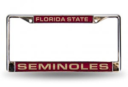NCAA Florida State Seminoles Laser Cut Chrome Plate Frame (Florida State Seminoles License Plate)