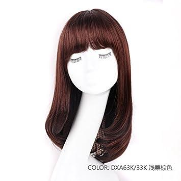 Zhudj Perücke Das Mädchen Mittellanges Haar Lange Glatte Haare