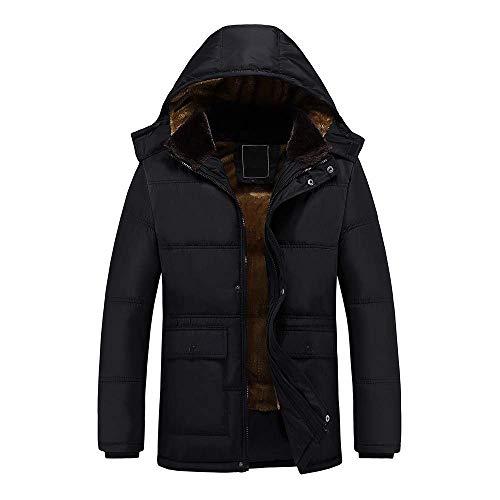 2019 Men New Coat,Men's Winter Leisure Zipper Pocket Down Jackets Stand Collar Coat Outwear Tops(6XL,Black)