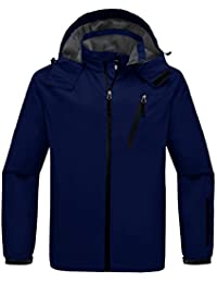 Wantdo Men's Hooded Windproof Rain Jacket Windbreaker Outdoor Hiking Jacket