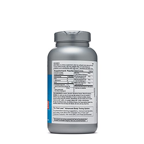 GNC Total Lean Advanced Premium CLA 3 6 9 for Muscle Tone, Cardio and Joint Health 120 Softgel Cap