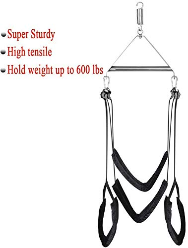 Adult Indoor Swing Set, Hanging on Sê&x Swing with Steel Triangular Frame for Couples Self Play (Sex Door Swing)