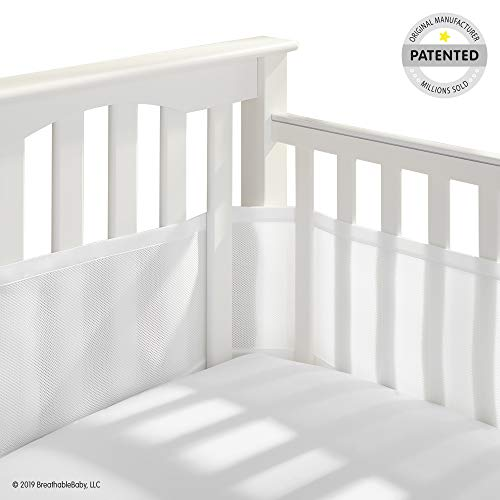 BreathableBaby Classic Breathable Mesh Crib Liner – White