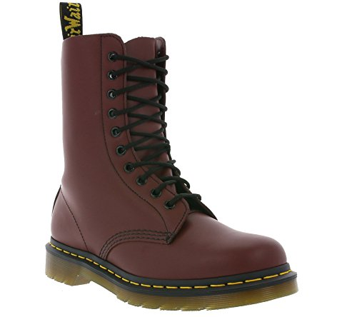 1490 Boots Mixte Rouge Dr Red Martens Adulte Smooth cherry EtqwWZ56W