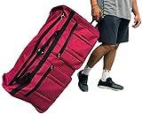 "Archibolt 36-inch Rolling Duffle Bag Wheeled Travel Sports Hockey 36"" (Red)"