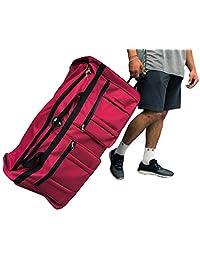 """Archibolt 36-inch Rolling Duffle Bag Wheeled Travel Sports Hockey 36"""""""