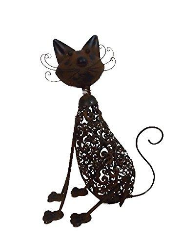 KelKay 1614907 Metal Art Cat Statue