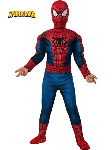 Rubie's Marvel Comics Collection, Amazing Spider-Man 2, Deluxe Spider-Man Costume, Child Large - Child Large One Color ()