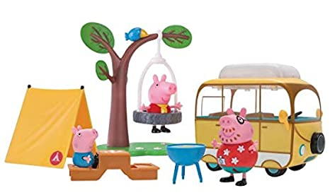 amazon com peppa pig family camping trip toys games