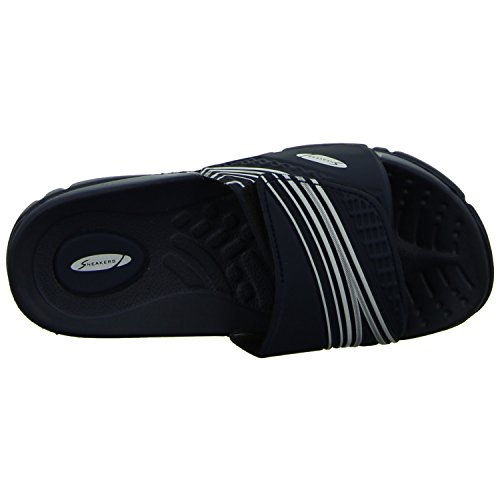 on sale 1fc41 3b811 Sneakers 14041619V Damen Badepantoletten Blau Blau