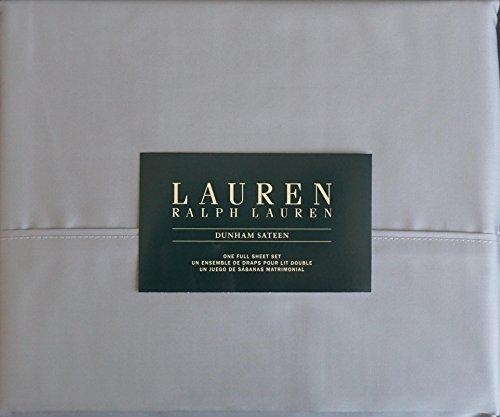 Lauren Ralph Lauren 4 Piece Full Dunham Sateen Cotton Sheet Set -- Dove Gray