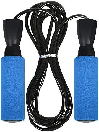なわとび トレーニング用 縄跳び ジャンプロープ スキップロープ 子供用 大人用 脂肪燃え ノイズ減少 ダイエット 握りやすい 跳びやすい 長さ調節可