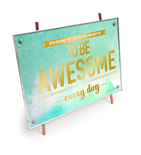 Isaac Jacobs 5x7 Copper Magnetic Acrylic Metal Easel Frame (5x7 Horizontal) (Copper)