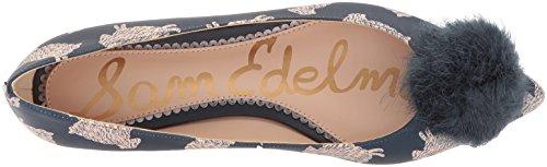 Navy Edelman Ballet Women's Raddie Sam Multi Flats n1dXqnx