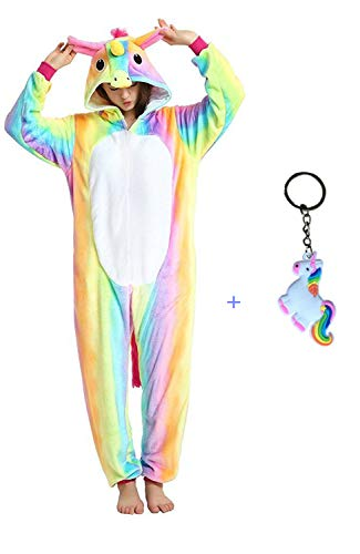 (Licorne Unisex Adult Pajamas, Nousion Cosplay Christmas Unicorn Sleepwear Onesies Outfit)