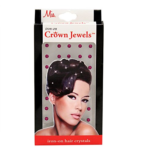 Mia Crown Jewels Iron-On Hair Ornaments-Pink Sapphire (50 pieces per (Sapphire Iron)