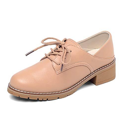 Deporte Zapatillas Para Y Mujeres 2 Yxx Zapatos Oxford Casuales Cordones De Mujer zapatos Punta Mujer Redonda Con vBUFRBqpw