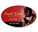 2500 2'' X 3.5'' Oval Business Cards FULL COLOR 14PT DOUBLE SIDED BLEED