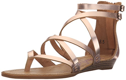 Blowfish Women's Bungalow Wedge Sandal Rose Gold Pisa extremely sale online in China cheap price sale best sale sale best clearance many kinds of YsD1FRn0i