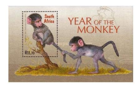 Year of The Monkey - South Africa - Chacma Baboon (Mini-Sheet - Souvenir Sheet)