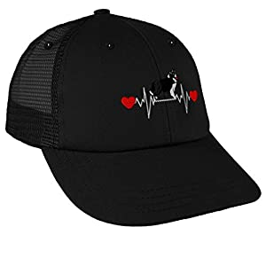 Trucker Hat Baseball Cap Dog Border Collie Lifeline A Embroidery Snaps One Size 45