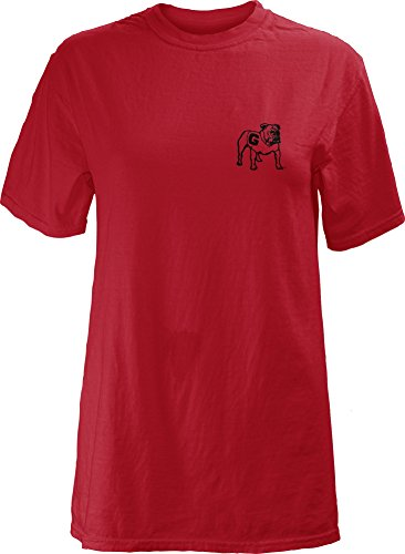 Short Garment Sleeve Washed T-shirt (NCAA Georgia Bulldogs Legacy Short Sleeve Garment Washed T-Shirt, Small, Red)
