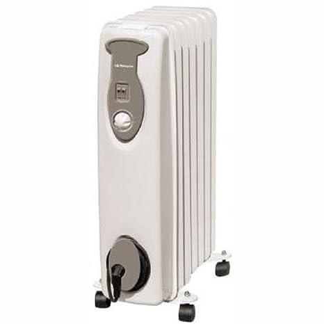 Orbegozo RA1500 - Radiador de aceite, 1500 W, 7 elemementos, termostato, color blanco: Amazon.es: Hogar
