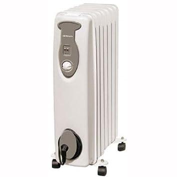 Orbegozo RA1500 - Radiador de aceite, 1500 W, 7 elemementos, termostato, color
