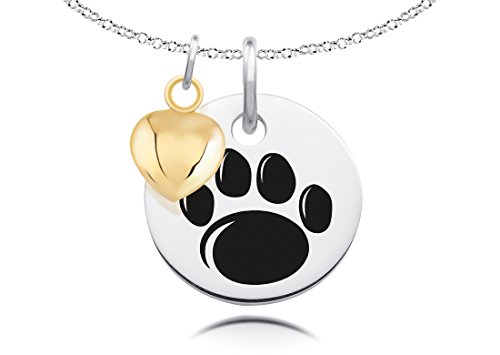 Penn State University Nittany Lions with Gold Heart Charm Accent